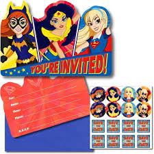 Super Hero Girls Invitations – 8Pk