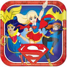 Super Hero Girls Dinner Paper Plates – 8Pk