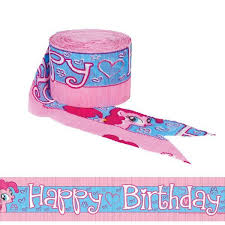 My Little Pony Crepe Streamer Happy Birthday