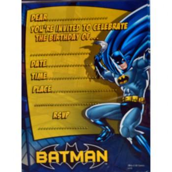 Batman Invitations – 8Pk