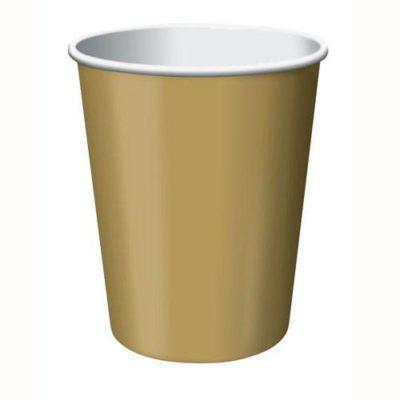 Gold Plain Paper Cups – 8PK