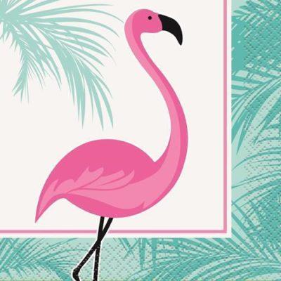 Flamingo Beverage Napkins – 16Pk