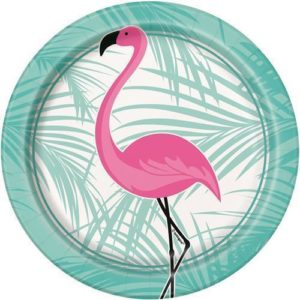 Flamingo Lunch Plates – 8Pk