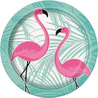 Flamingo Dinner Plates – 8Pk