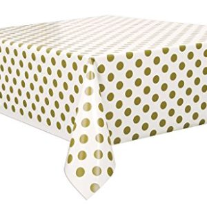 Polka Dot Rectangle Tablecover – Gold