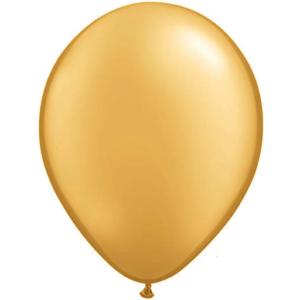 12″ Plain Balloons – Gold 10Pk
