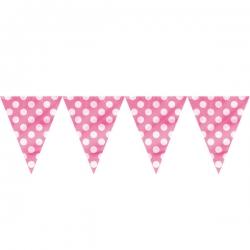 Polka Dot Triangle Banner – Hot Pink
