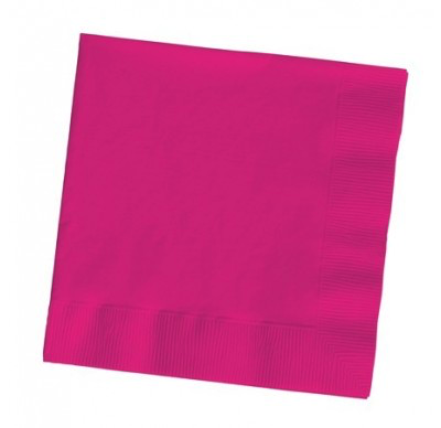 Magenta 2Ply Plain Napkins – 50PK