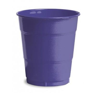 Purple Plain plastic Cups – 25PK