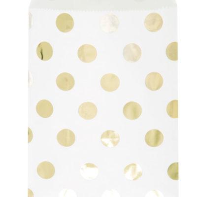Gold Polka Dot Candy Bags – 8 PK