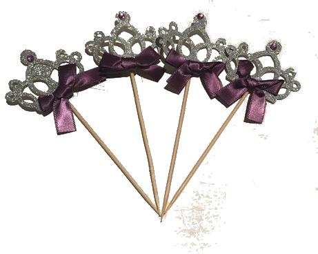 Crown Cupcake Topper – Purple
