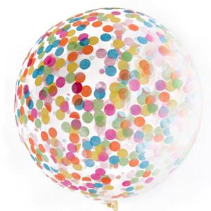 90 cm Jumbo Confetti Balloon – Rainbow