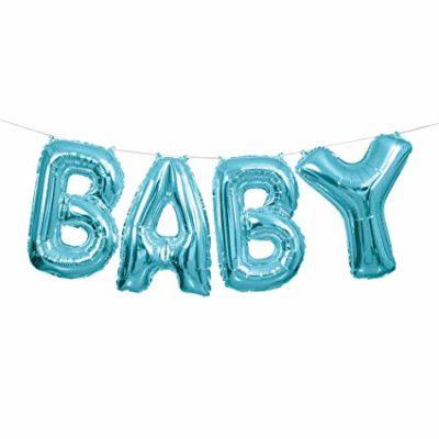 """BABY"" Air Filled Script – Blue"