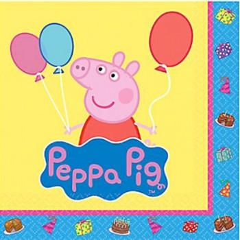 Peppa Pig Luncheon Napkins – 6Pk