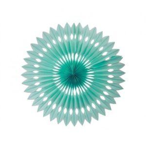 24 cm Paper Fan – Mint Green