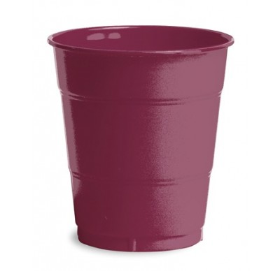 Burgundy Plain plastic Cups – 25PK