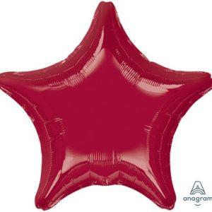 Star Foil Balloons 45cm – Burgundy