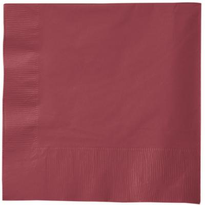 Burgundy 2Ply Plain Napkins – 50PK