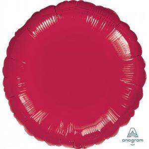 Round Foil Balloons 45cm – Burgundy