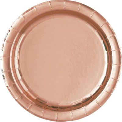 Rose Gold Plain Plates – 8 PK