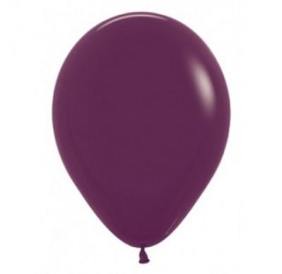 12″ Plain Balloons – Burgundy 10Pk