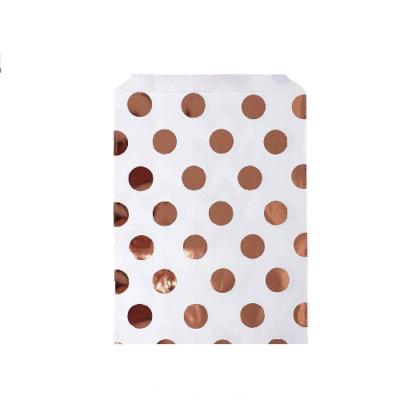 Rose Gold Polka Dot Candy Bags – 8 PK