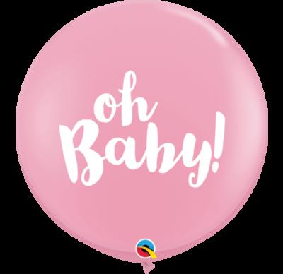90 CM Jumbo Printed Latex – Oh Baby Pink