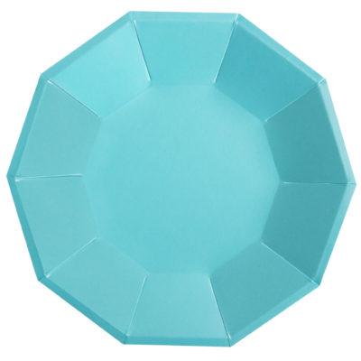 Blue Foil Large Plate – 10Pk