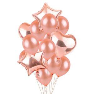 Balloon Bouquet Rose Gold – 10 Piece