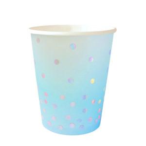 Blue Iridescent Cup – 10 Pk