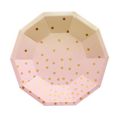 Pink Iridescent Dessert Plate – 10Pk