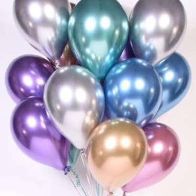 Chrome Balloon Bouquet – 10 Piece